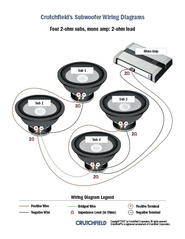 1 Ohm Speaker Wiring Diagram Subwoofer Wiring Diagram for 6 Subs Kicker Of Pin by On Cars Car