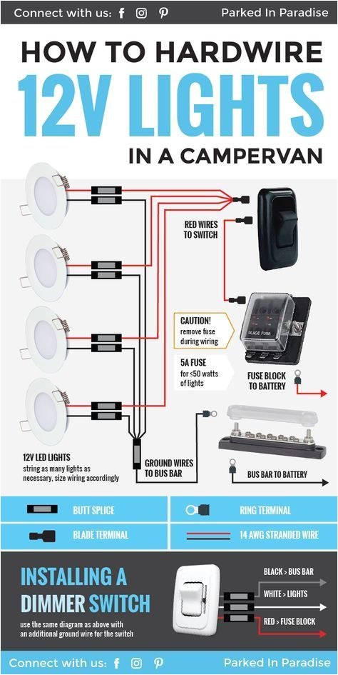 great diagram that explains exactly what you need to know about hardwiring 12 volt lights