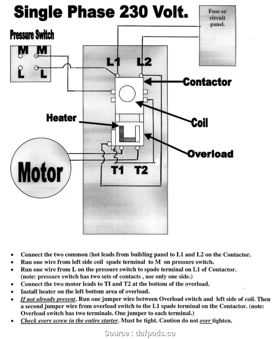 120 208v Single Phase Wiring Diagram Wireing 208 Motor Starter Diagram Wiring Diagram Mega
