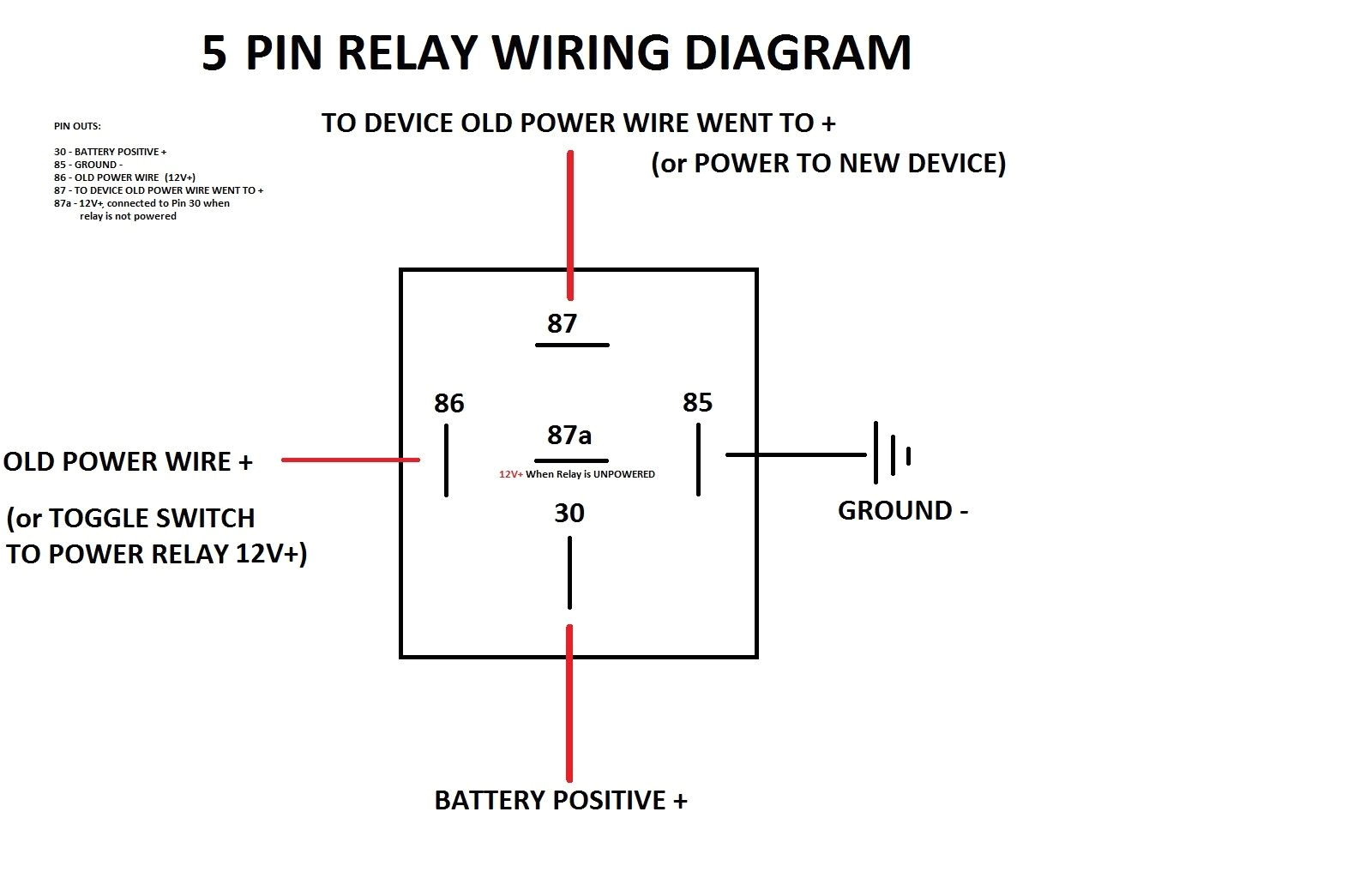 4 Pin Relay Wiring Diagram Spotlights