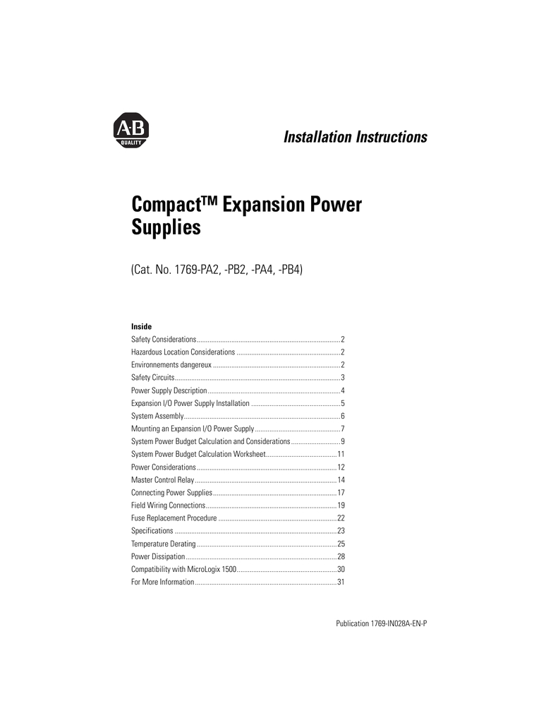 1769 in028a en p compact expansion power supplies