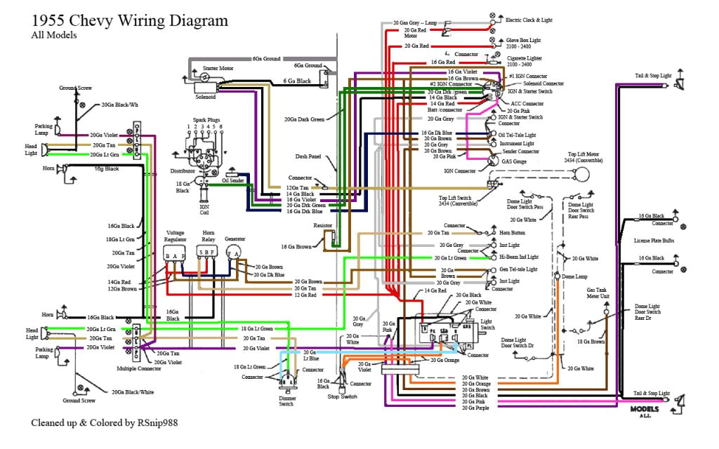55 chevy wiring diagram