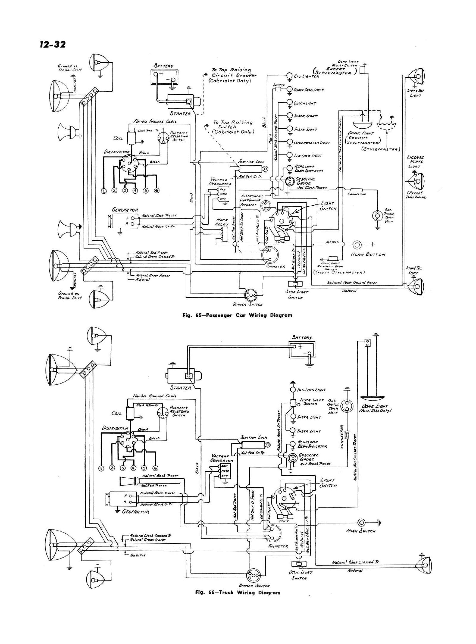 1947 passenger car truck wiring