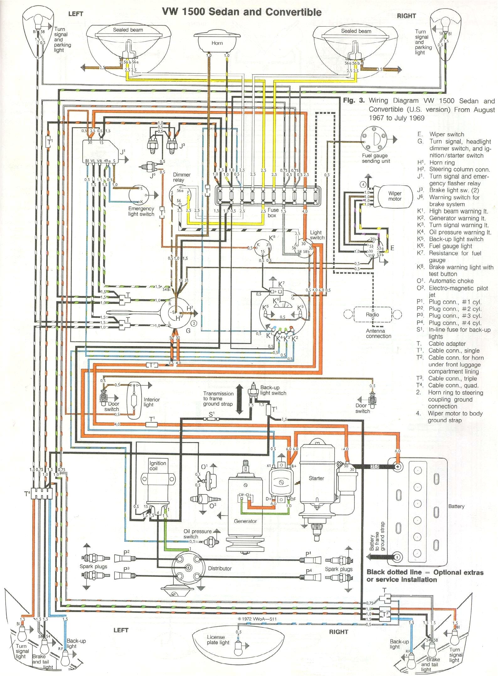 1967 Vw Beetle Wiring Diagram 68 Vw Wiring Diagram Wiring Diagram Paper