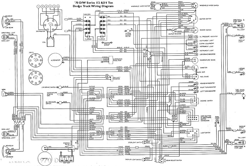 1970 Dodge Dart Wiring Diagram 1968 D100 Wiring Diagram Wiring Diagram Expert