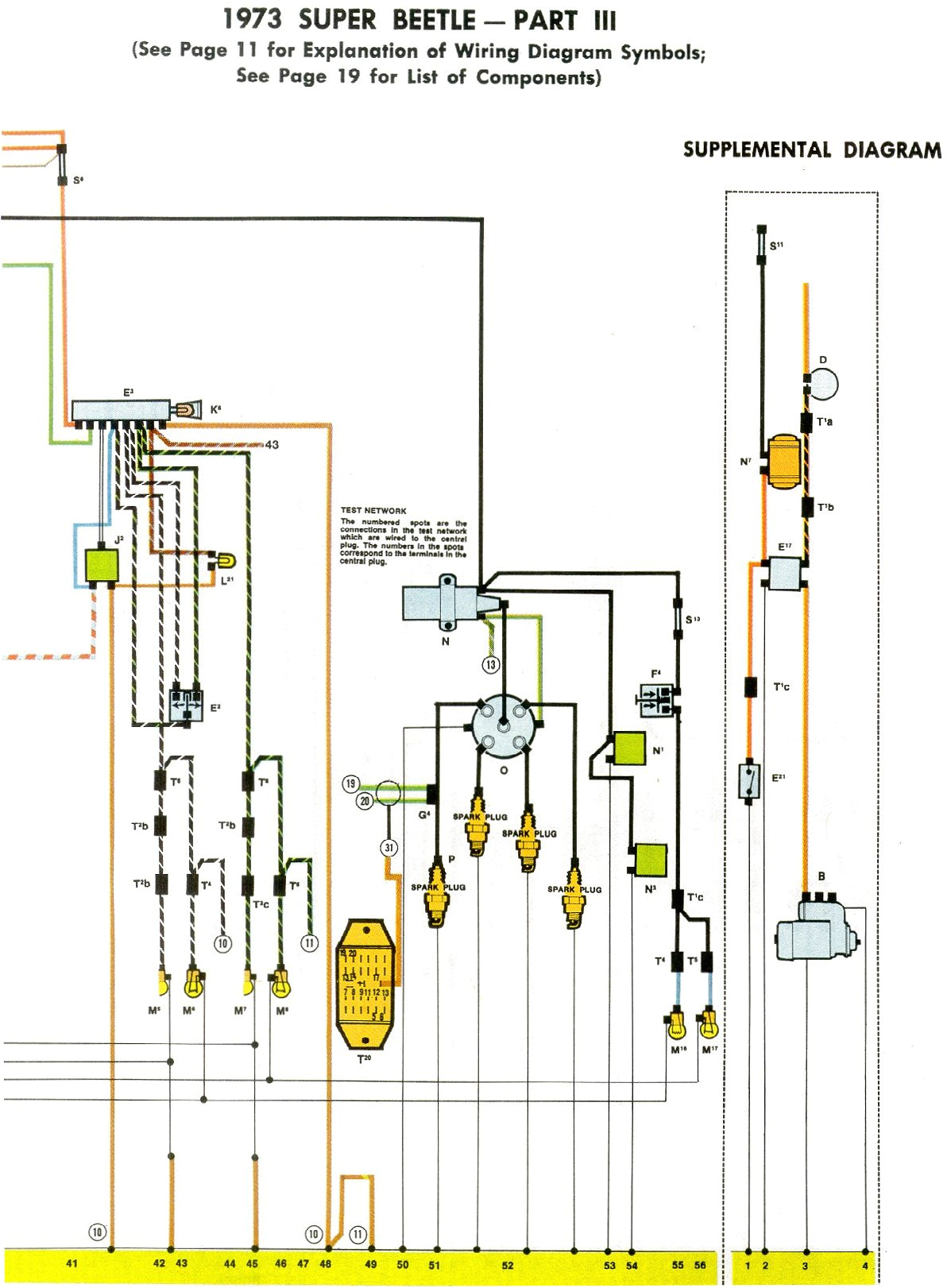 1973 super beetle wiring diagram thegoldenbug com 1973 volkswagen beetle wiring diagram 1973 super beetle wiring