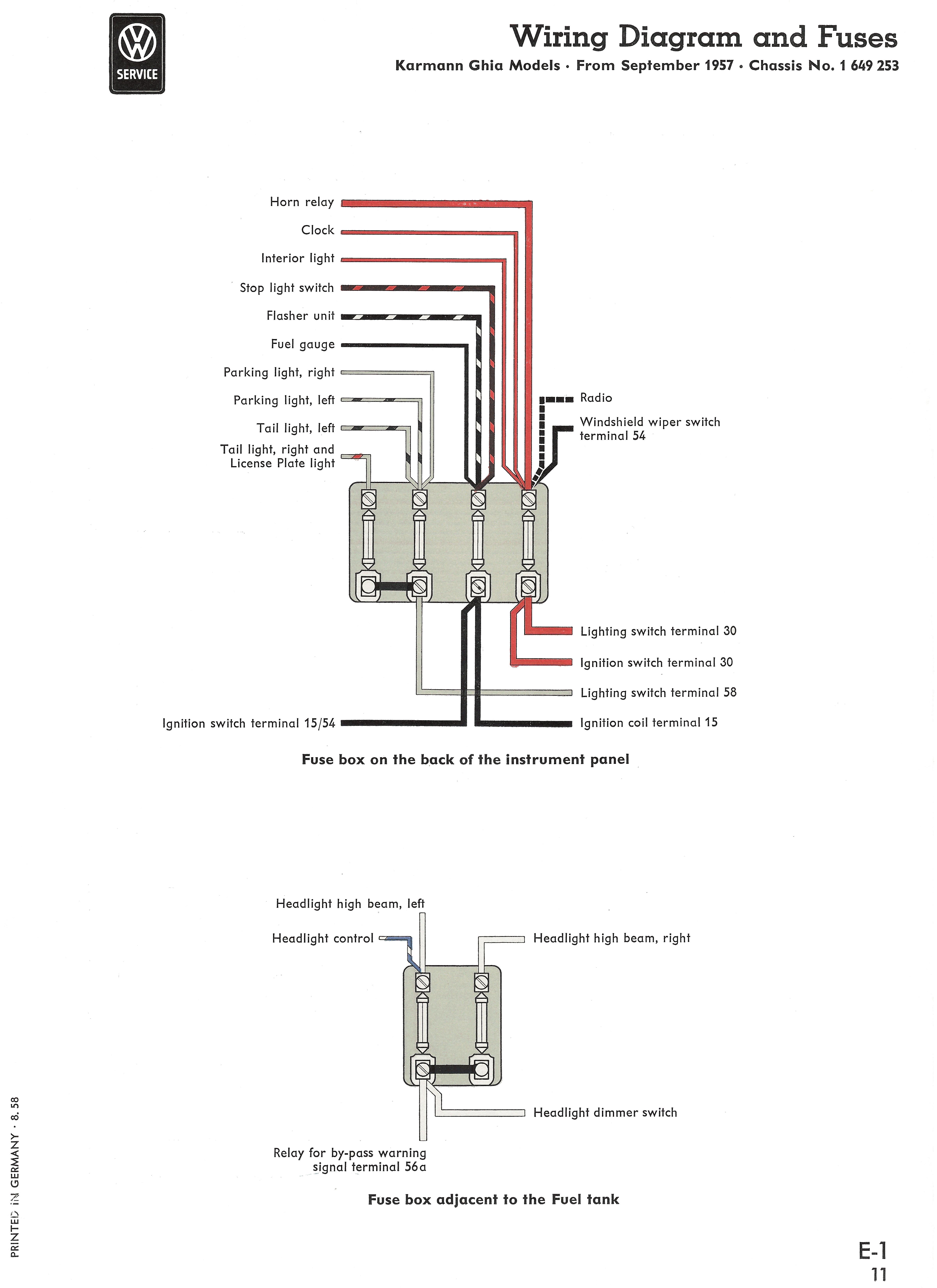 1971 Karmann Ghia Wiring Diagram 1968 Karmann Ghia Fuse Box Manual E Book