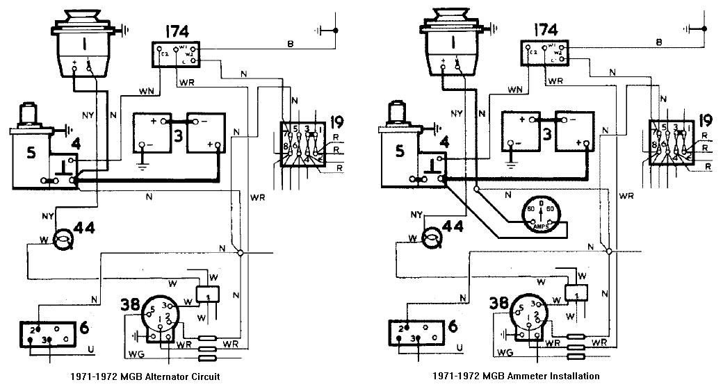 mgb wiring gauge wiring diagram todaychicagoland mg club tech tips fuel gauge callibration ammeter installation diagram