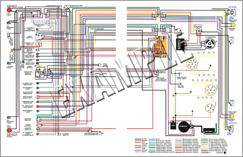 1972 dodge dart plymouth duster 11 x 17 color wiring diagram
