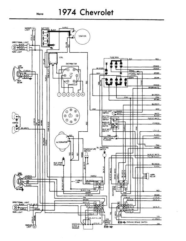 1974 chevy nova wiring diagram