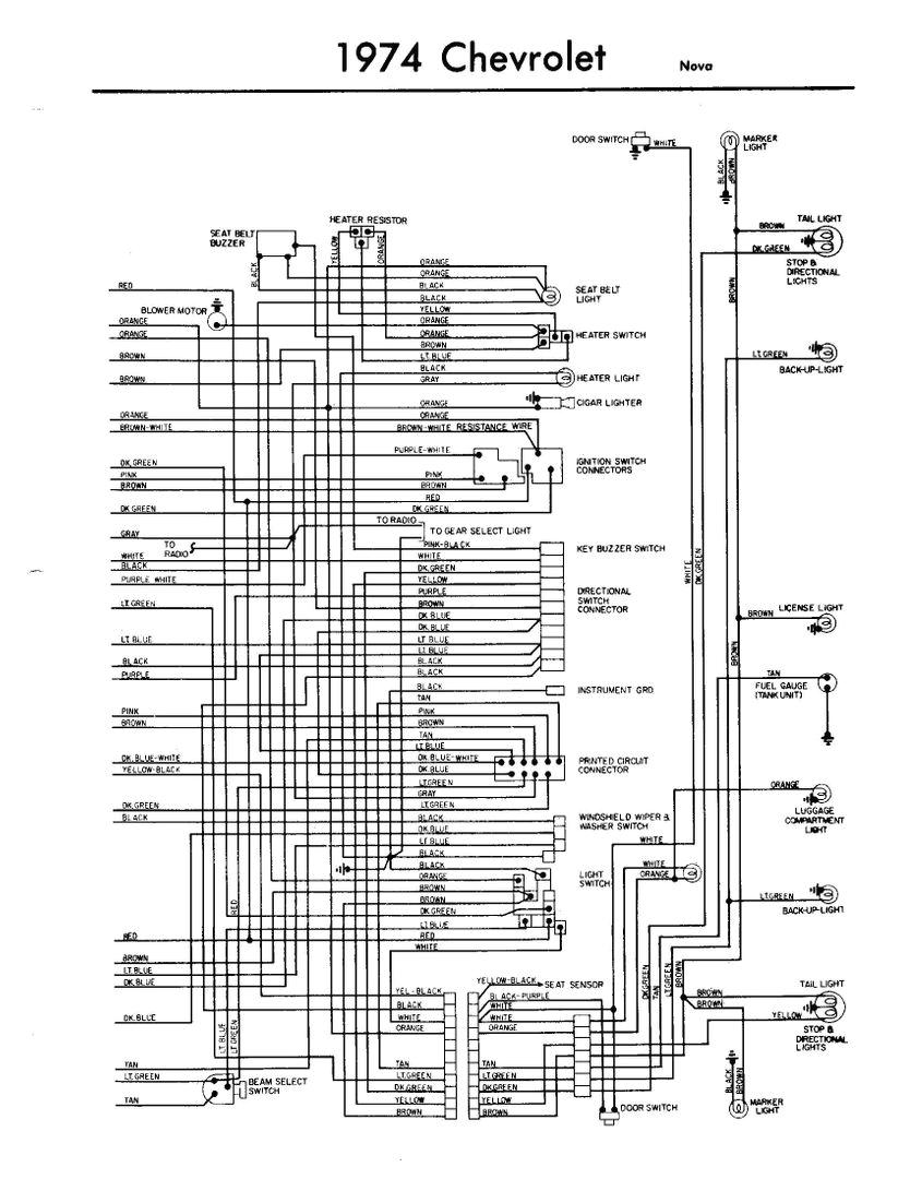 1974 Chevy Pickup Wiring Diagram 1974 Chevy Nova Wiring Diagram Wiring Diagram Expert