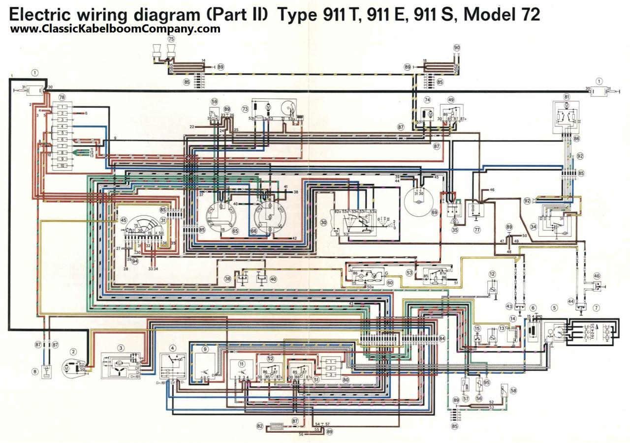 74 porsche 911 wiring diagram