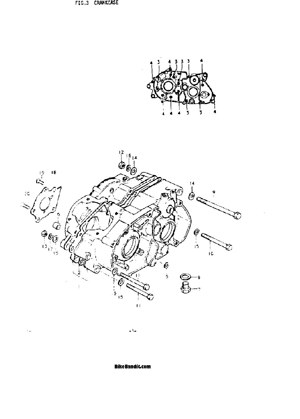 1974 Suzuki Ts185 Wiring Diagram 1974 Suzuki Ts185 Sierra Crankcase Parts Best Oem