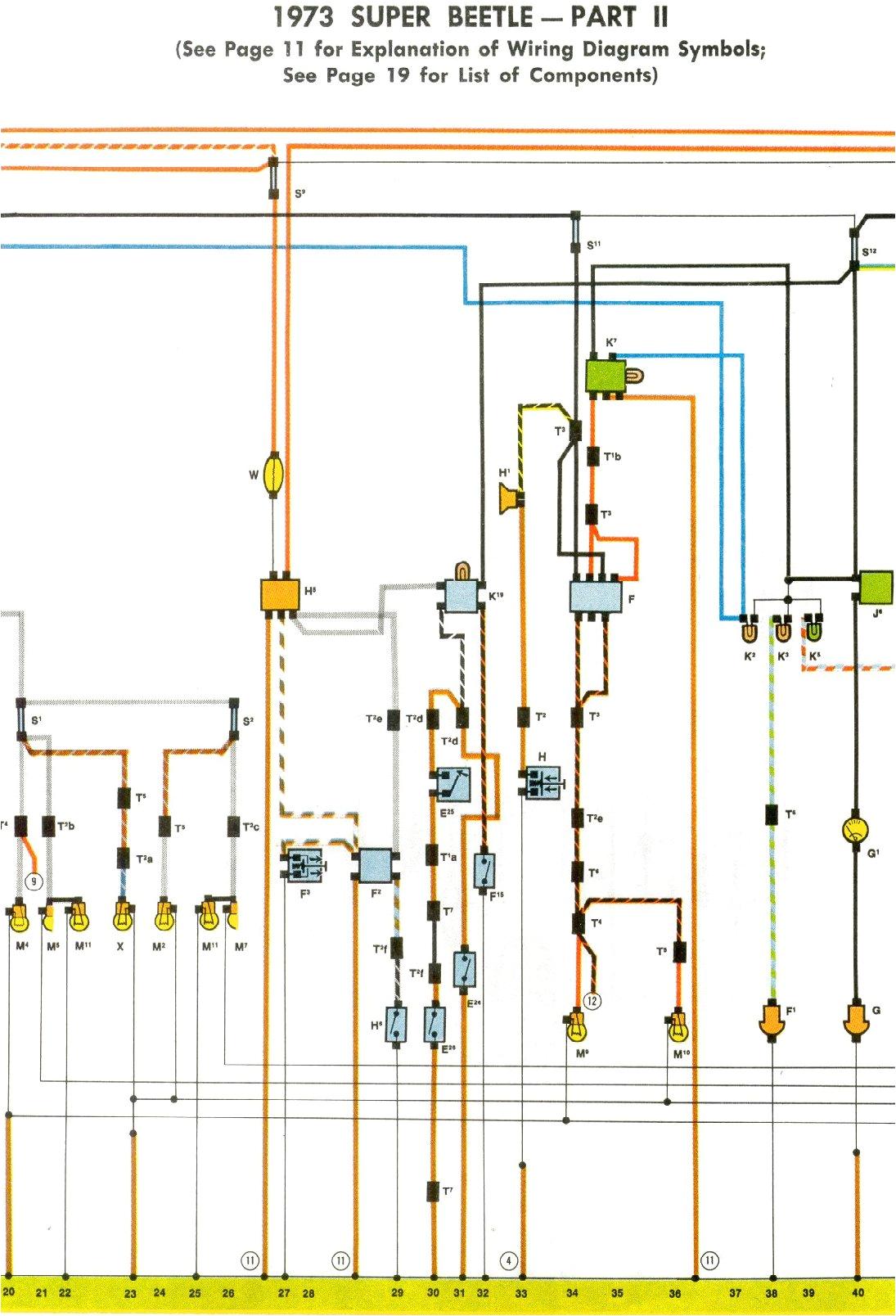 1973 super beetle wiring diagram thegoldenbug com wiring diagram vw beetle 1973