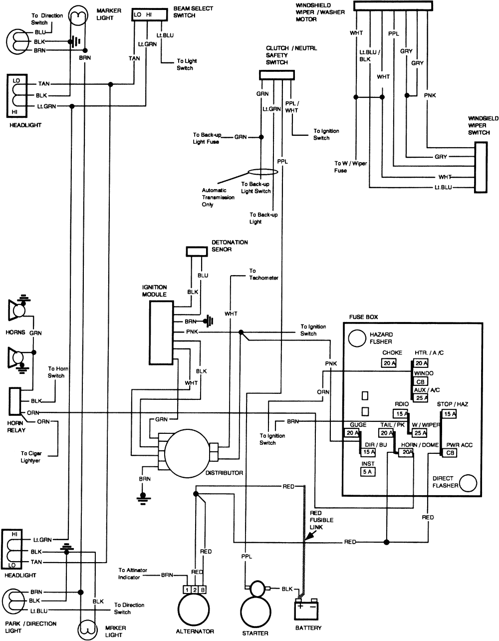 1981 Chevy Truck Wiring Diagram 81 Chevy Pickup Wiring Diagram Wiring Diagram Expert