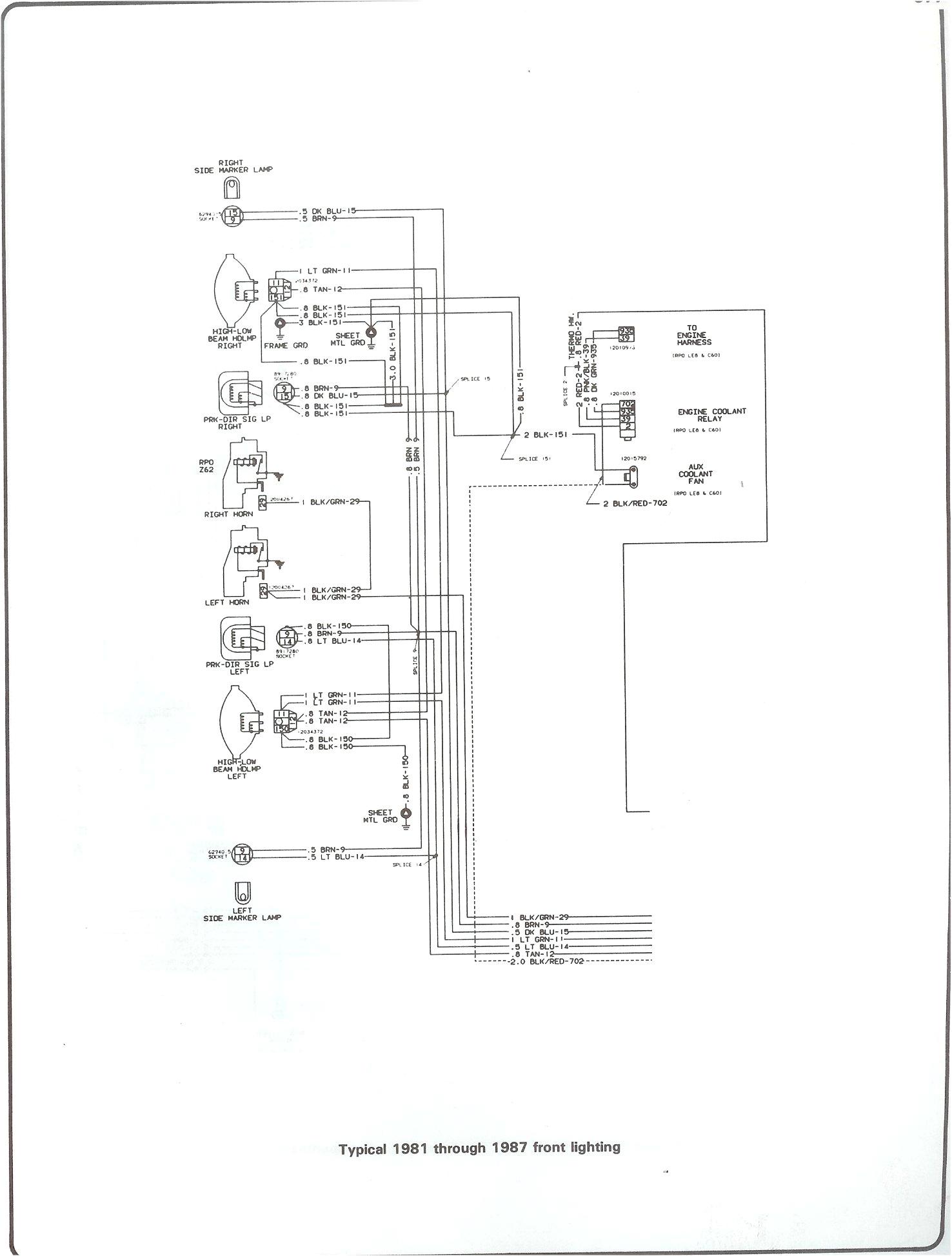 wiring lamp diagram 82 chevy truck schematic diagram complete 73 87 wiring diagrams 84 chevy wiring