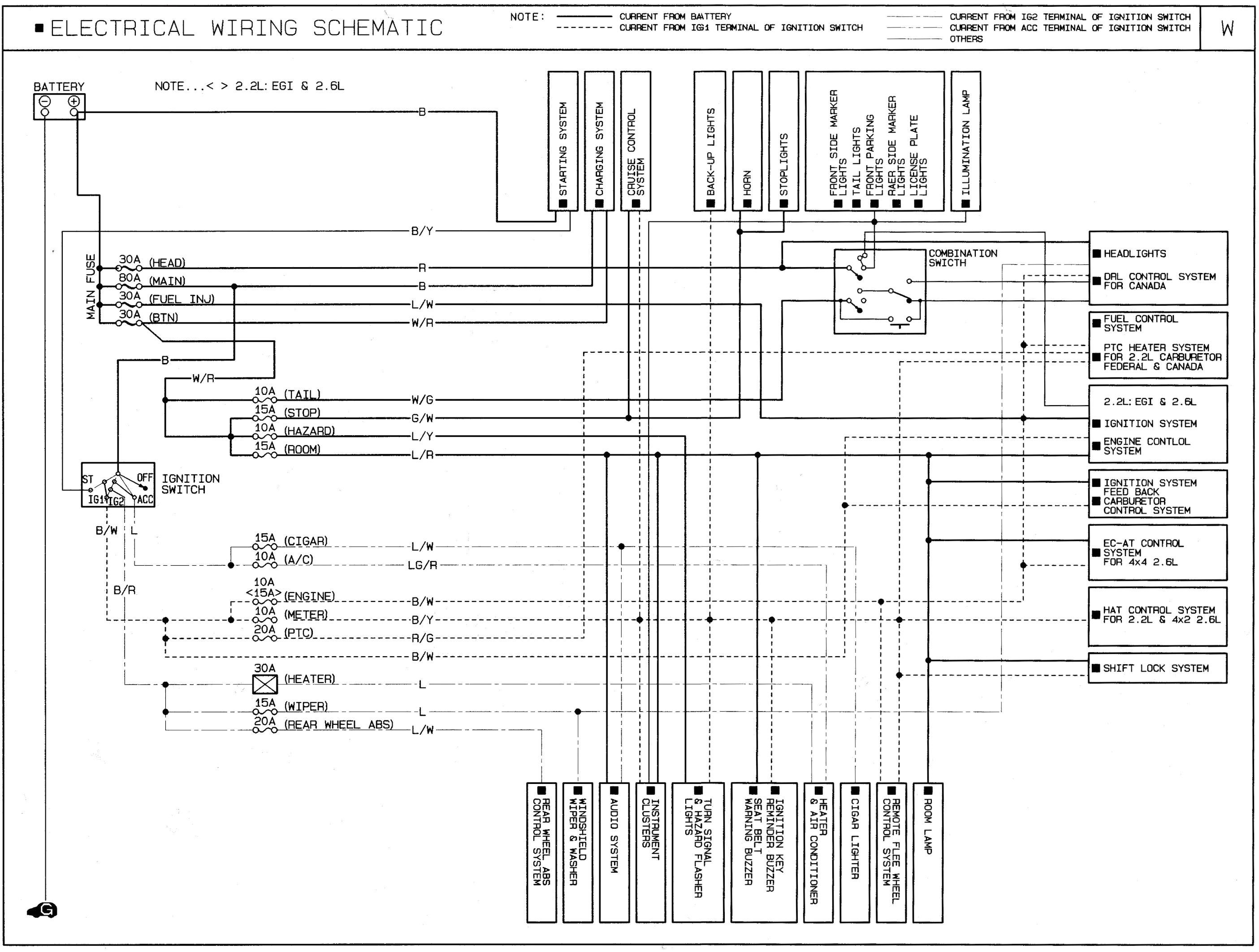 mazda 84 wiring b2000 diagramheadlights wiring diagram inside