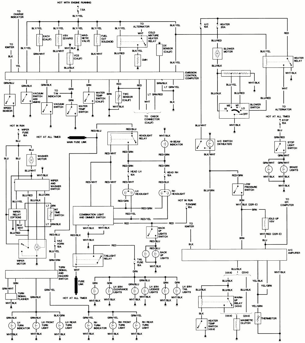 85 toyota wiring harness wiring diagram expert 1986 toyota cressida wiring diagram 1986 toyota pickup wiring