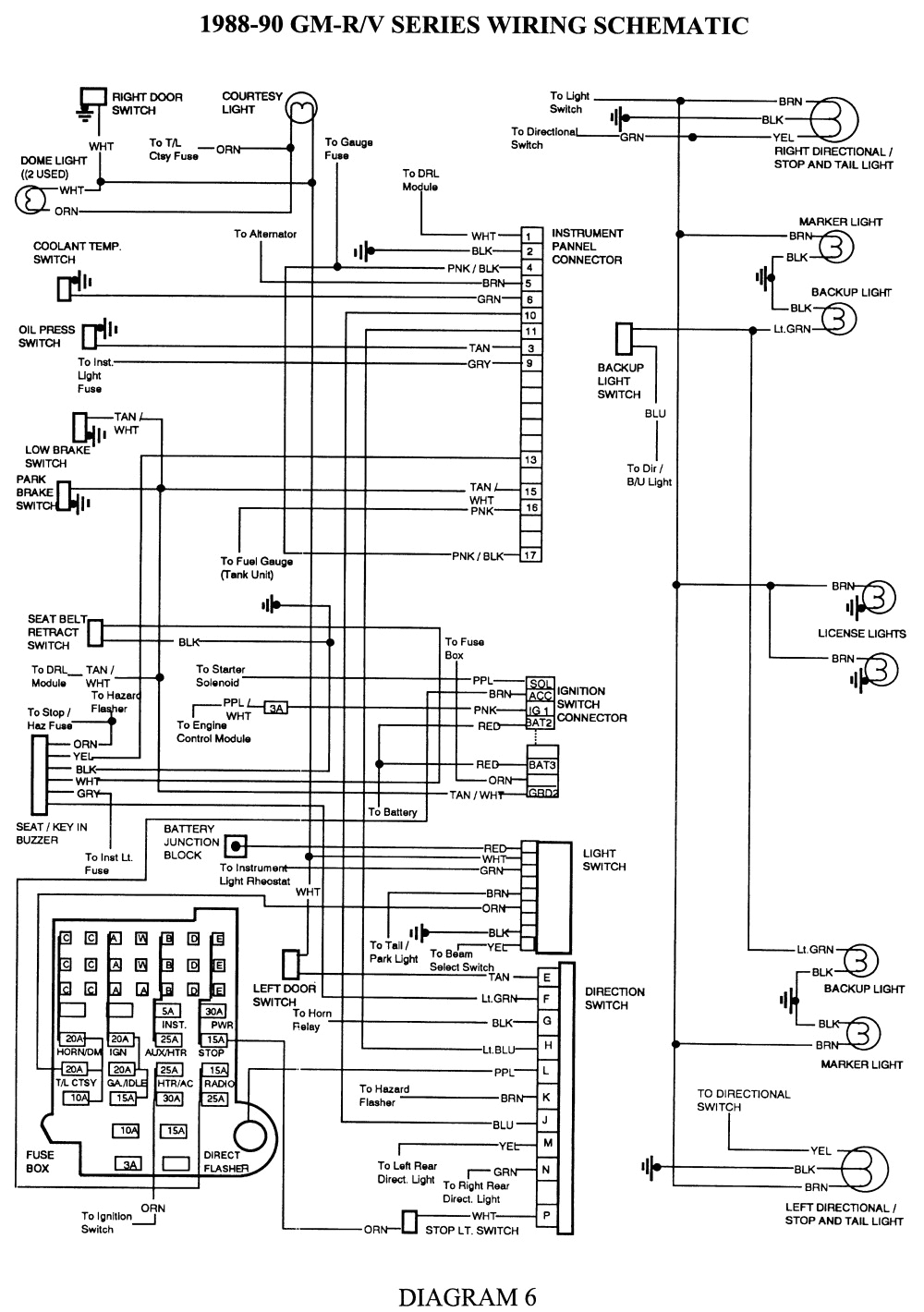 1989 Gmc Sierra Wiring Diagram 1989 Gmc Back Up Light Wiring Wiring Diagram Used