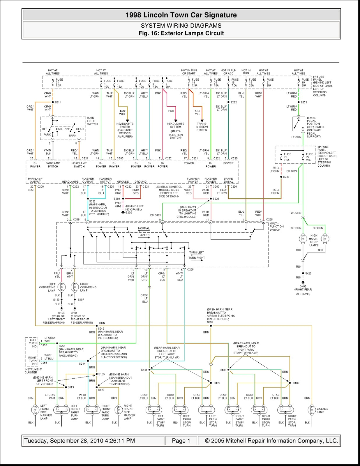 wiring diagram 1994 lincoln town car wiring diagram expert 94 lincoln town car wiring schematic