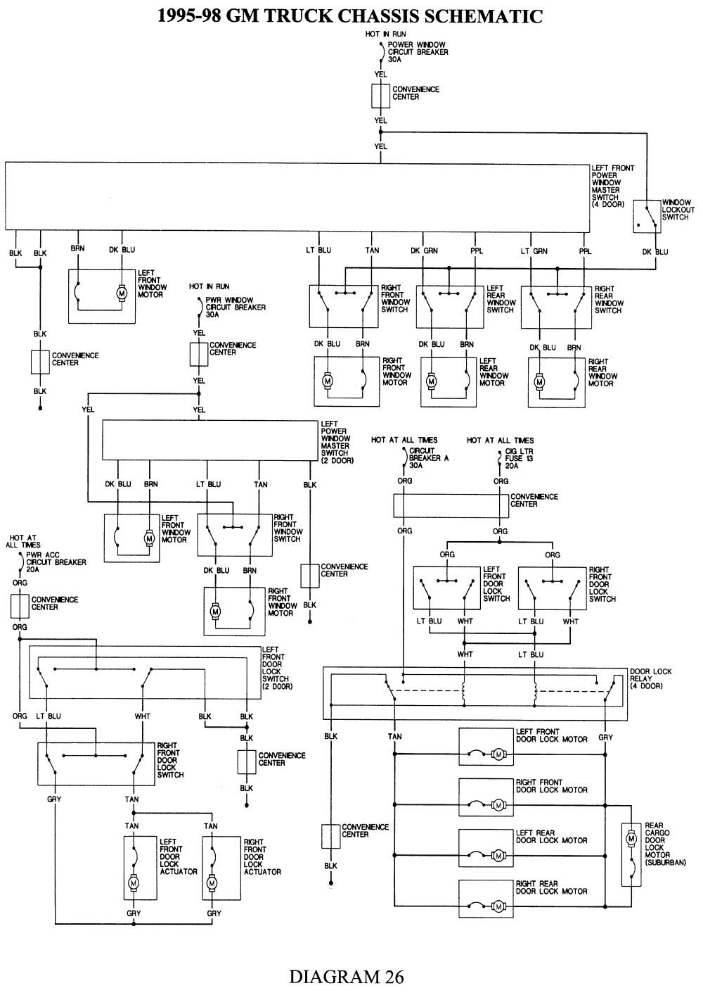 26 1994 gm truck chassis schematic click image to see an enlarged view fig
