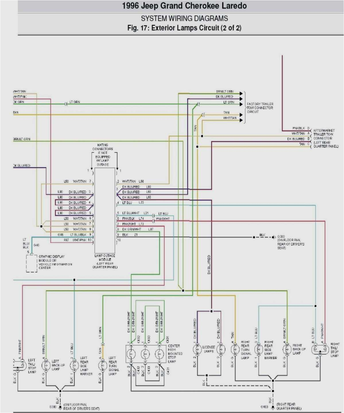 jeep zj wiring diagram wiring diagram repair guides1997 jeep grand cherokee wiring harness wiring diagram centre