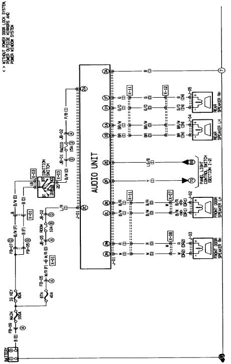 mazda protege wiring wiring diagram 1993 mazda protege wiring diagram schematic