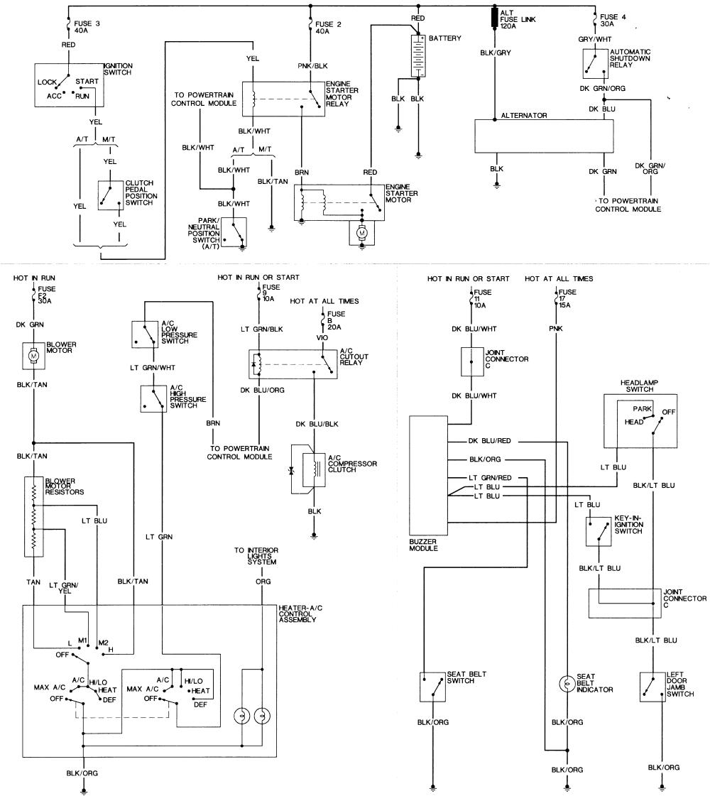 repair guides wiring diagrams wiring diagrams autozone com1994 dodge dakota wiring 6