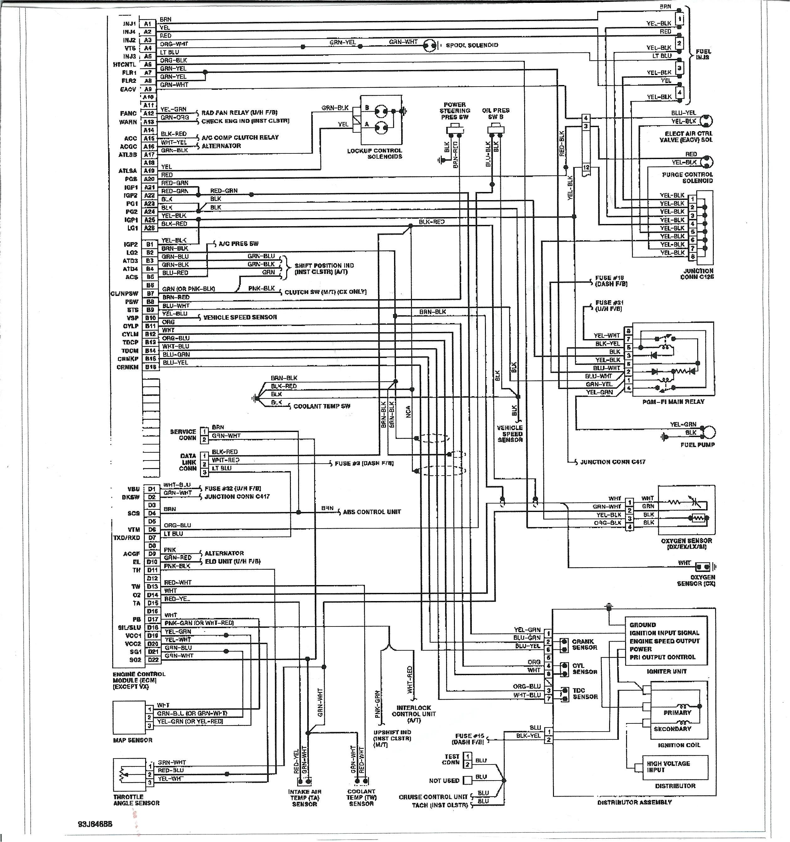 1995 Acura Integra Wiring Diagram 95 Acura Computer Wiring Diagram Home Wiring Diagram