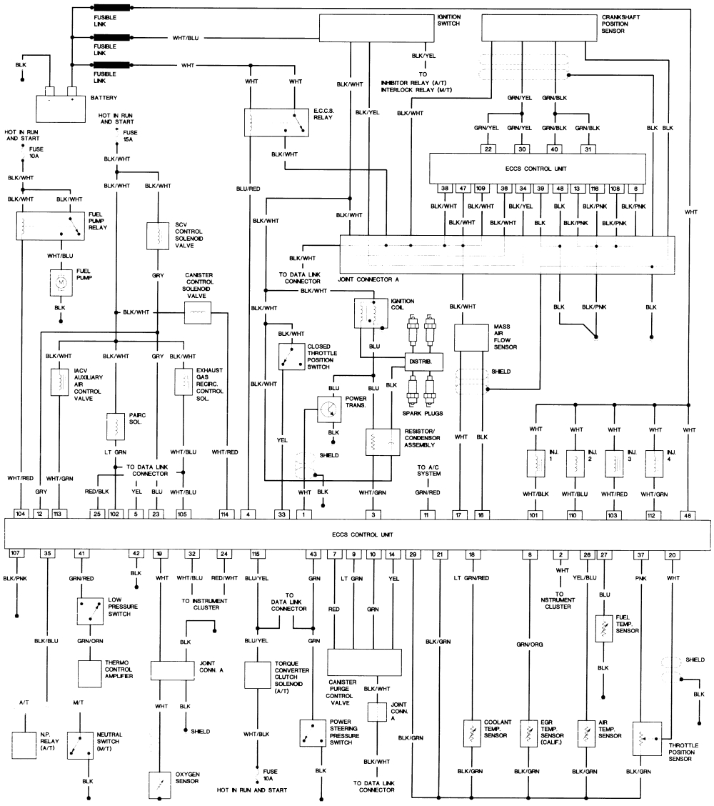 repair guides wiring diagrams wiring diagrams autozone com mix 30 engine controls 4 cylinder 1995 nissan