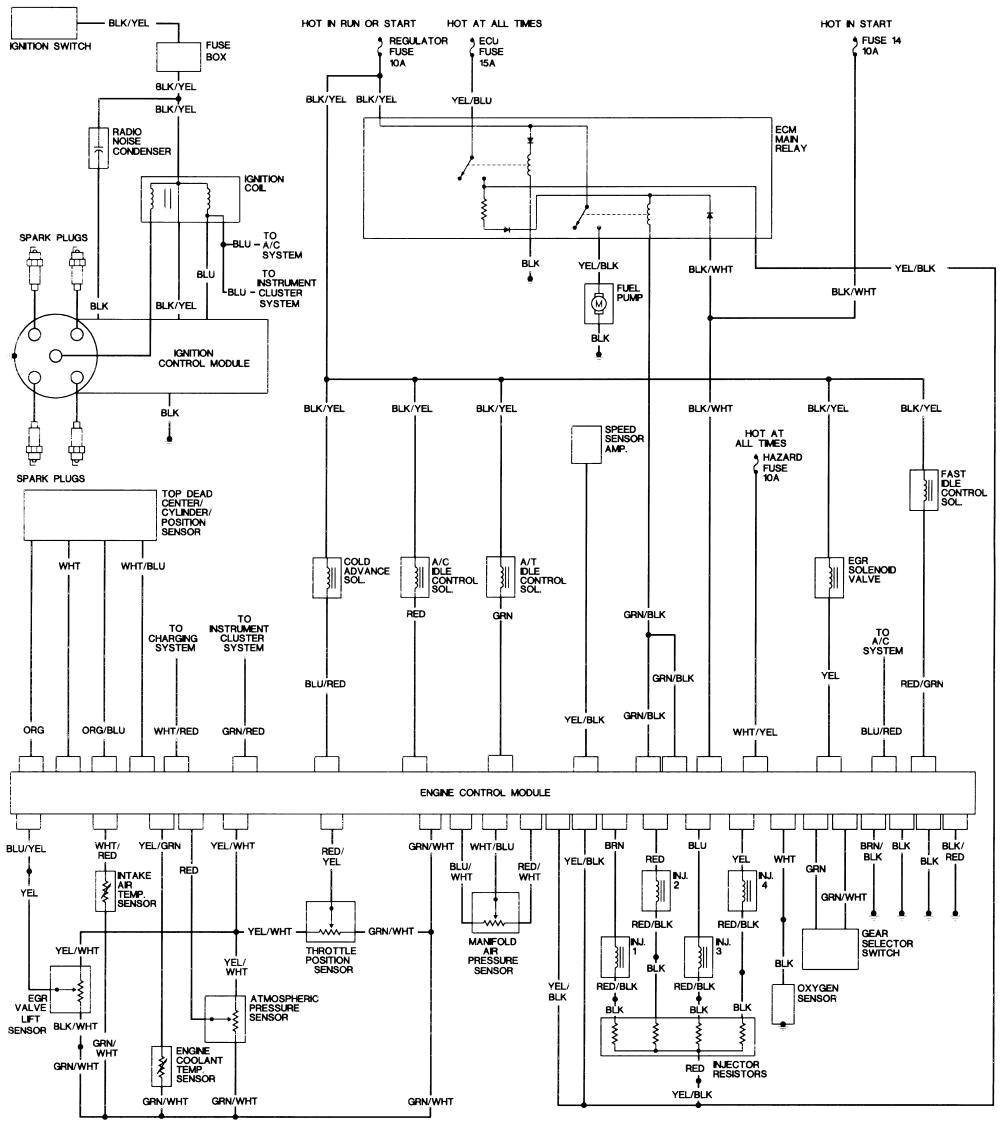 1992 honda accord engine diagram also 1992 honda accord distributor honda accord ignition wire diagram 92