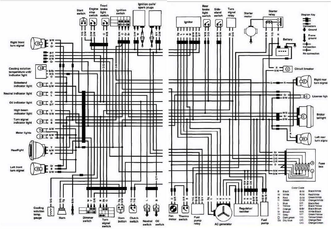 1996 honda cbr 600 wiring diagram