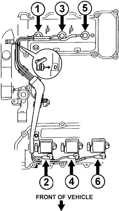 1996 toyota camry spark plug wire diagram
