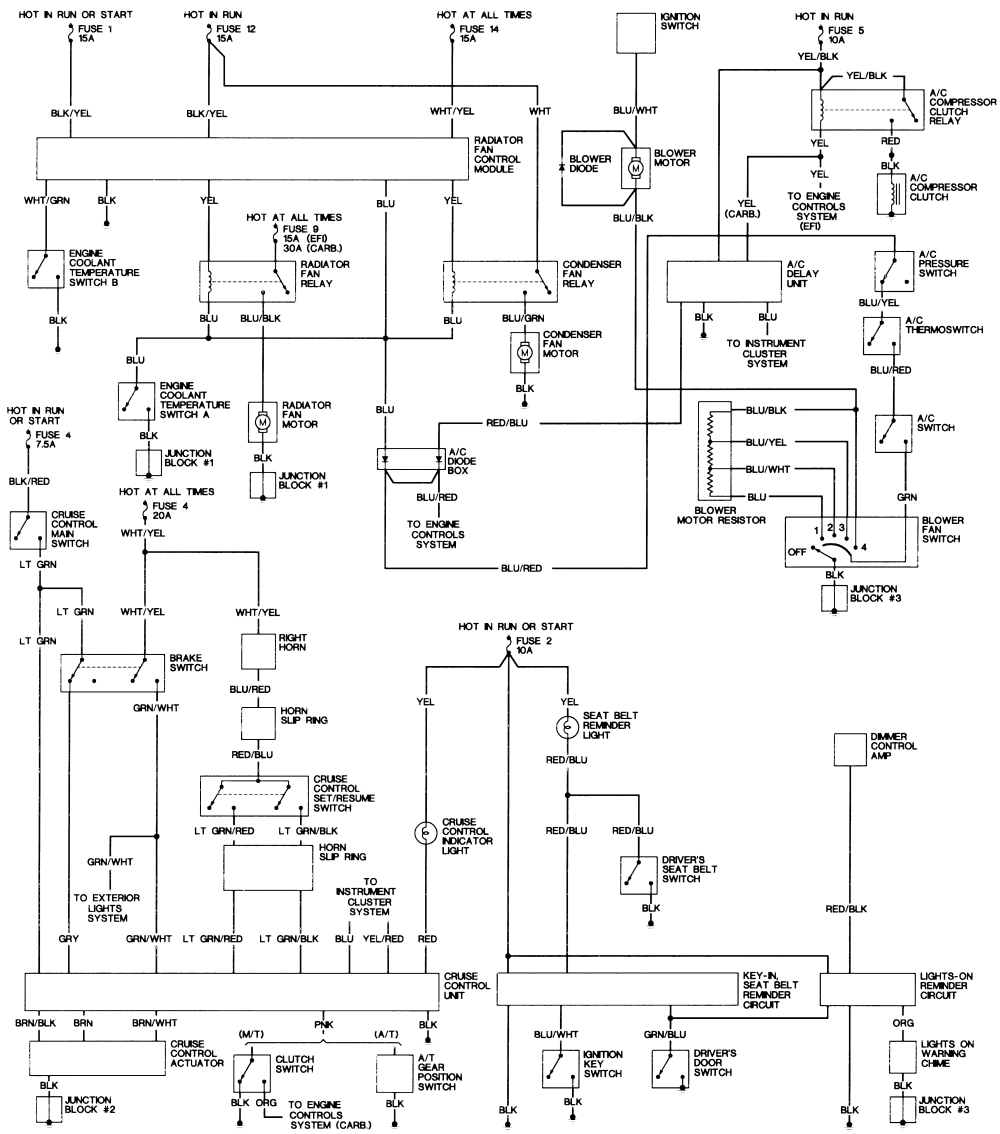 repair guides wiring diagrams wiring diagrams autozone com wiring diagram for 97 honda accord to fans