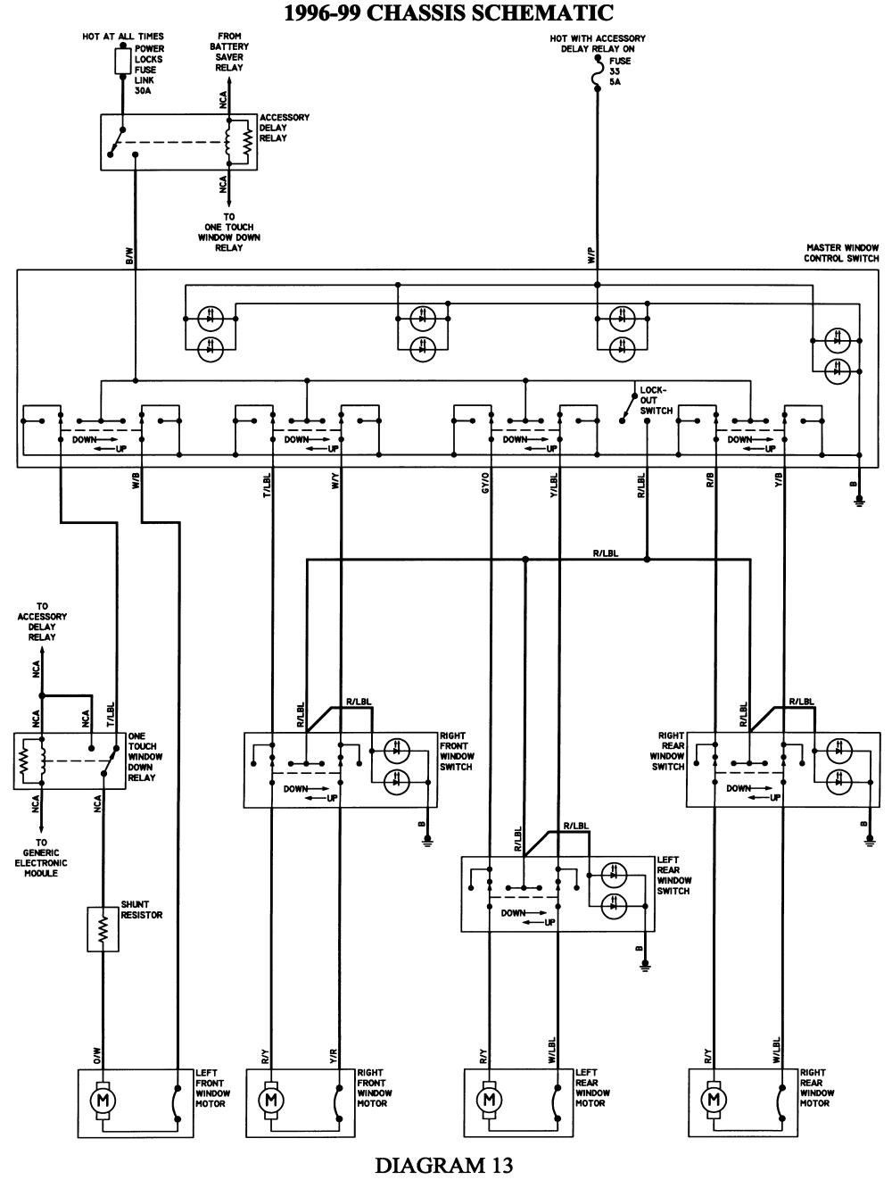 1999 ford Taurus Wiring Diagram ford Taurus Wiring Schematic Manual E Book