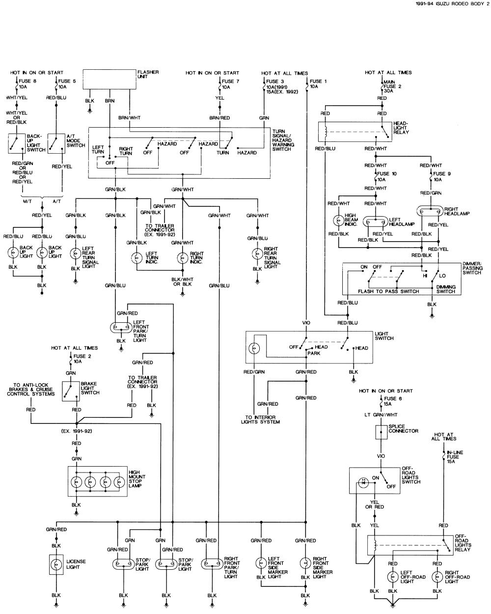 1992 isuzu truck wiring diagram wiring diagrams second 1992 isuzu rodeo wiring diagram my wiring diagram
