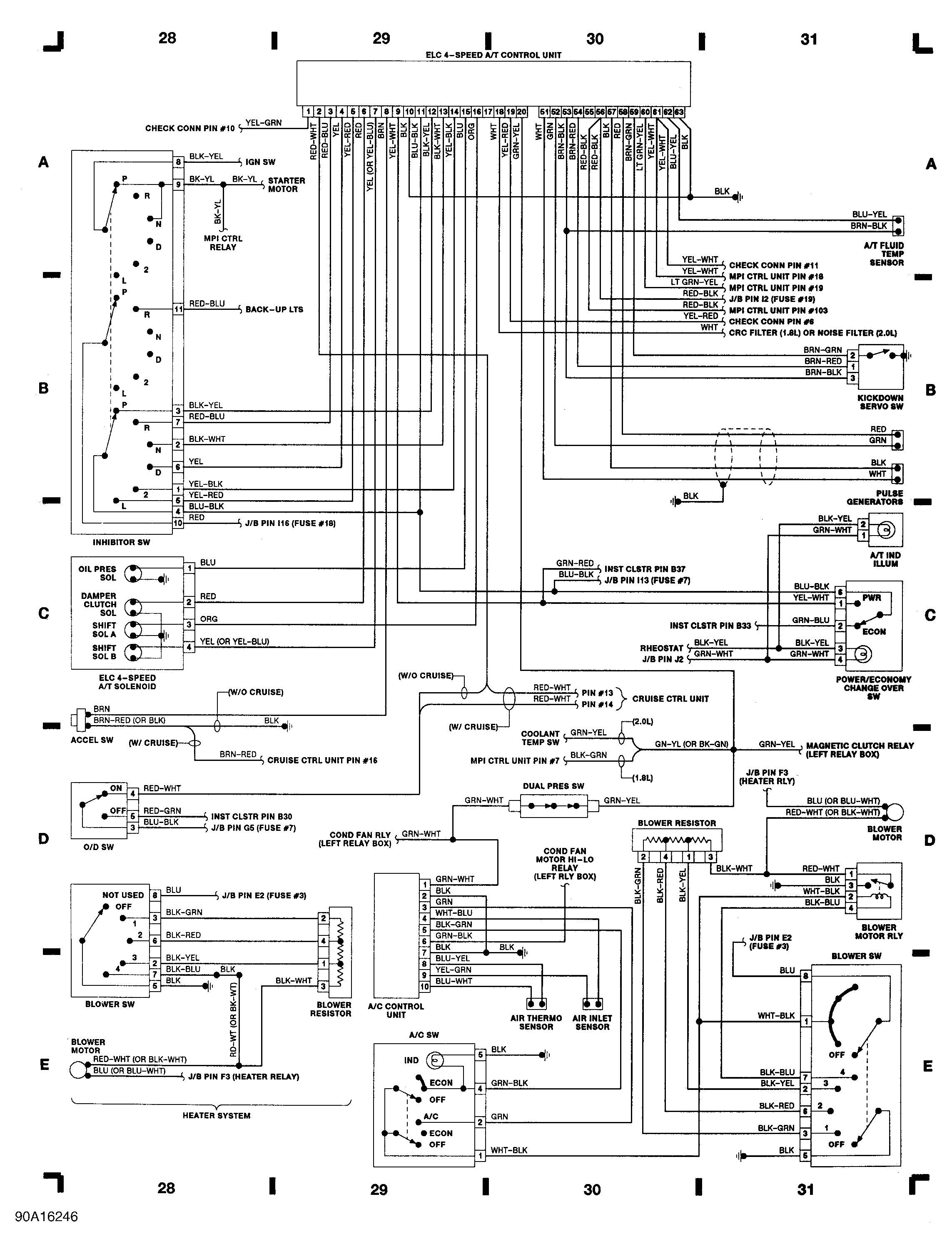 90 awd turbo auto transmission wiring diagram