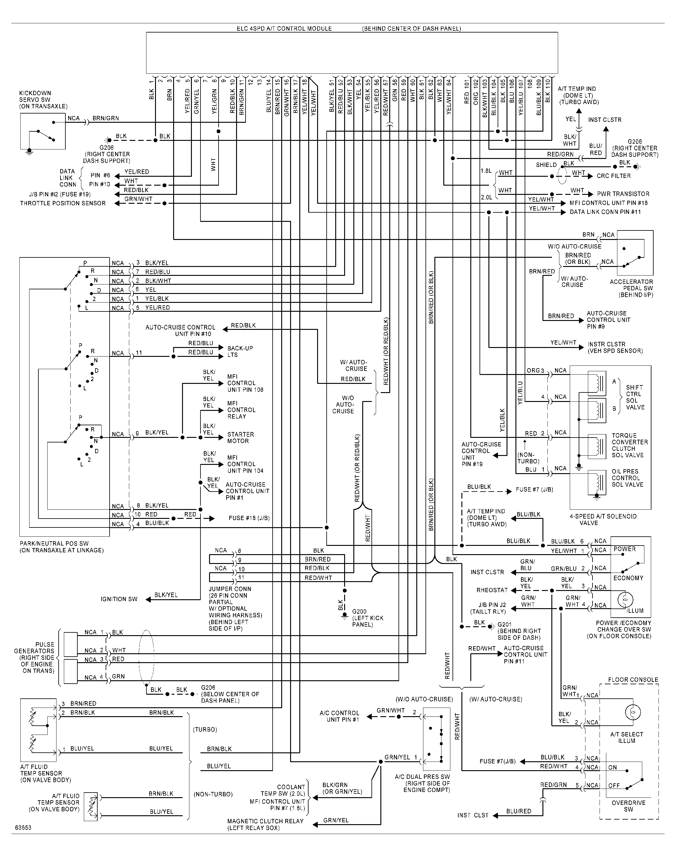 93 94 fwd turbo auto transmission wiring diagram