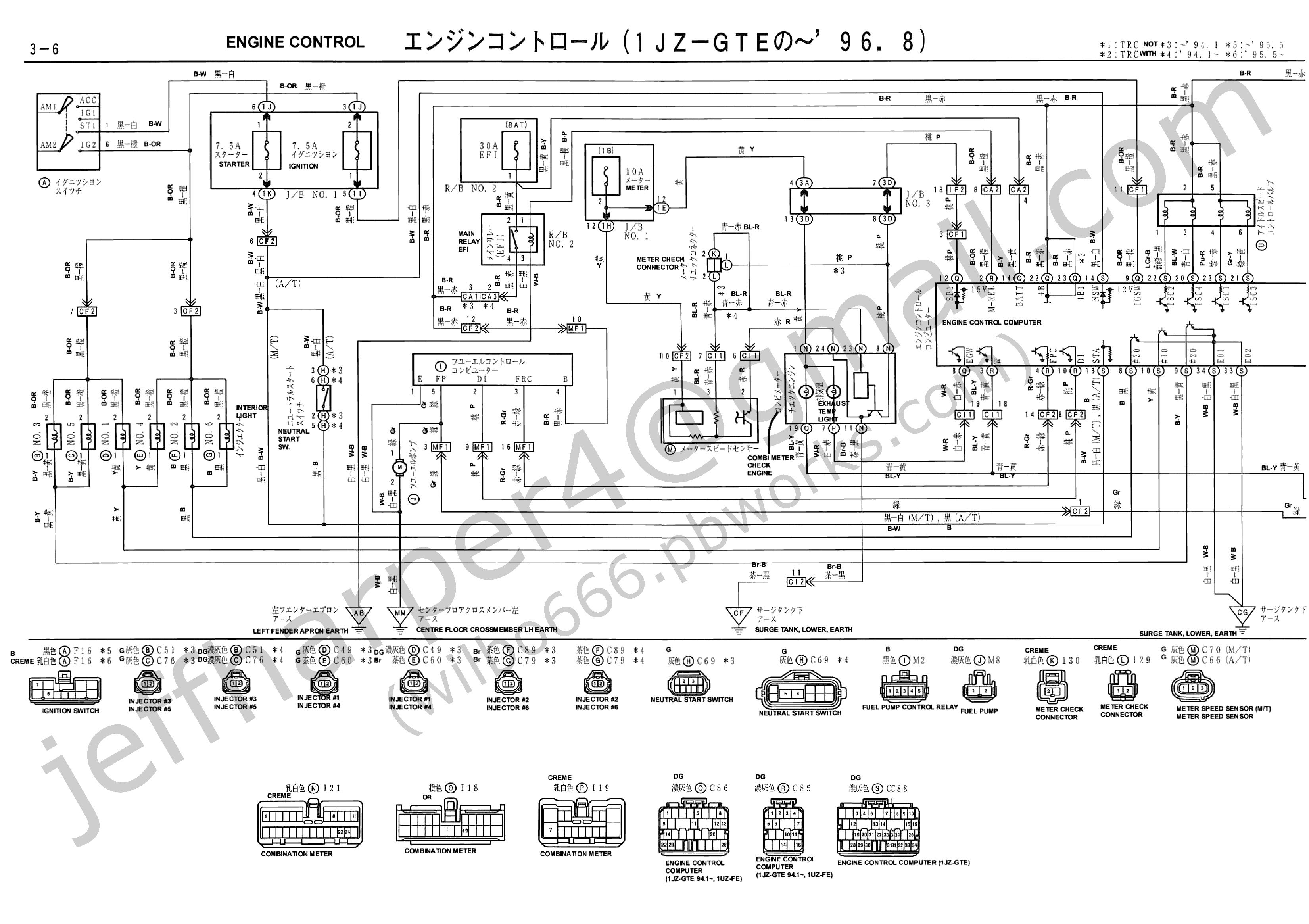 jzz30 toyota soarer 1jz gte wiring diagrams
