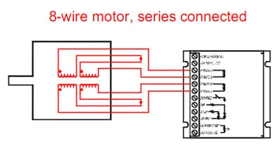 8 wire step motor series connection diagram