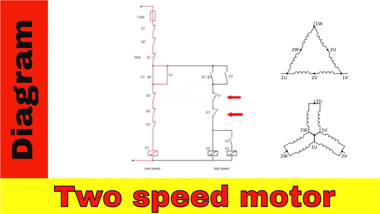 wiring diagram for two speed motor 3ph 2 speed motor youtubewiring diagram for two speed motor