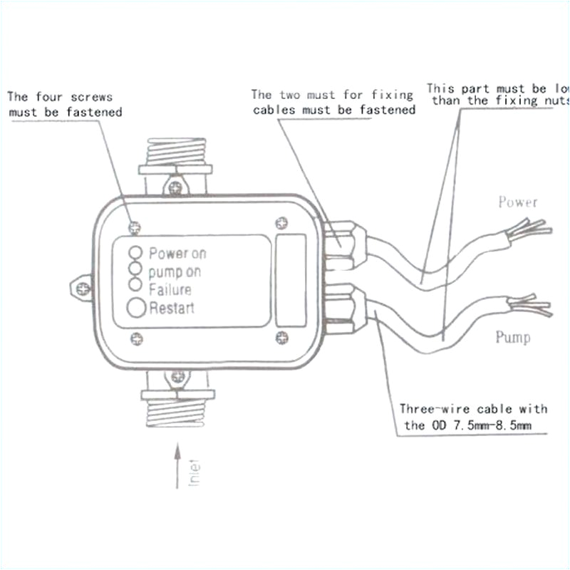 pump pressure switch wiring diagram well water new for