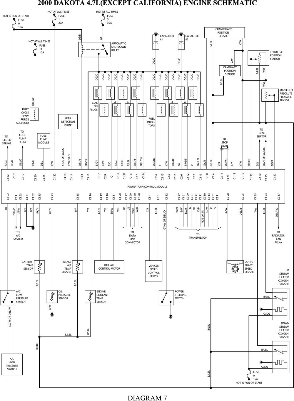 repair guides wiring diagrams wiring diagrams autozone com 1999 dodge durango wiring schematics 1999 durango wiring schematic