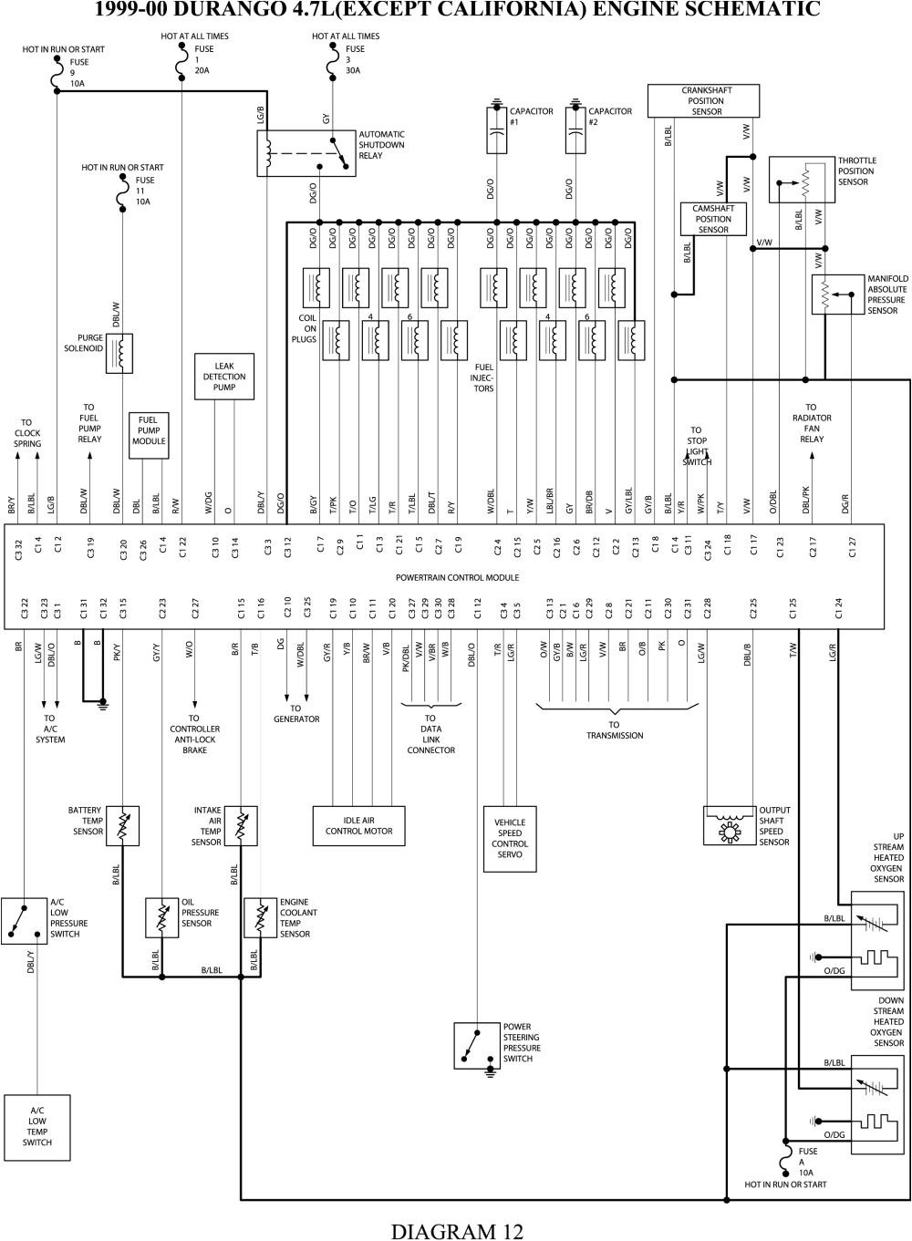 2000 Dodge Durango Wiring Diagram 1999 Durango Wiring Schematic Wiring Diagram Fascinating