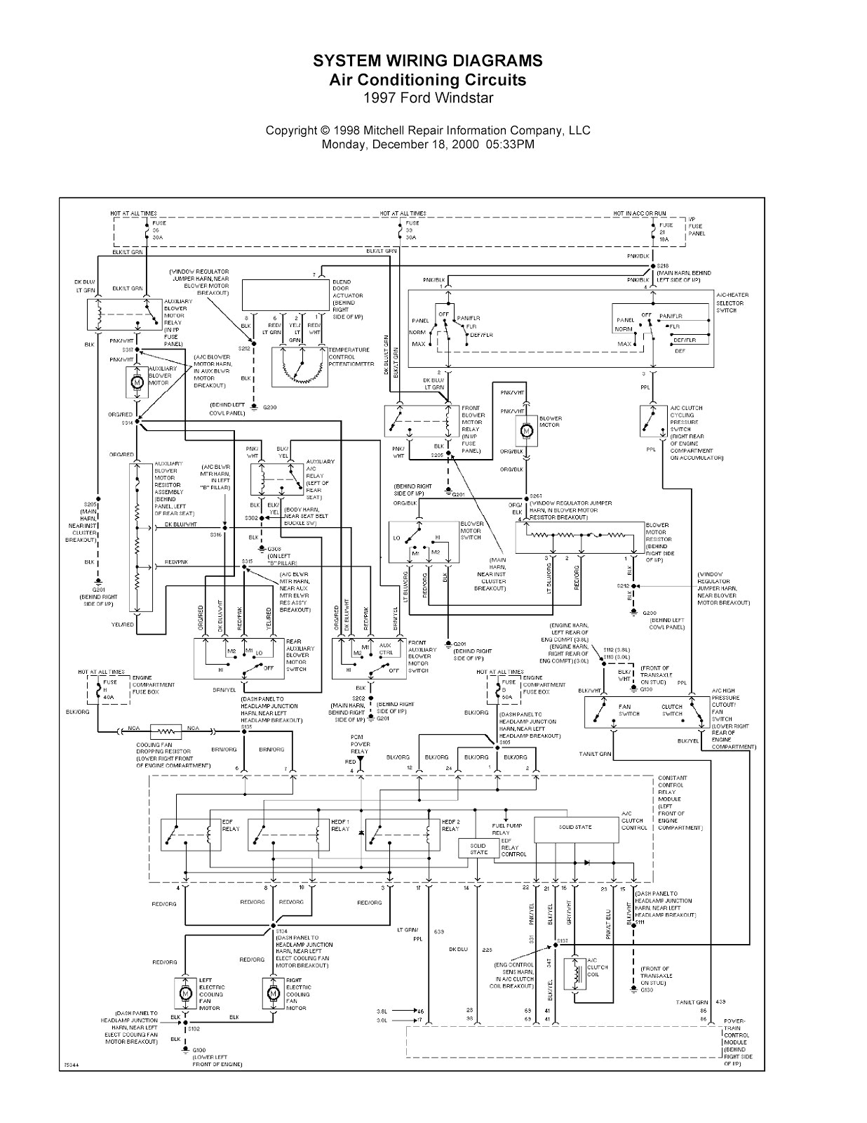 96 ford windstar wiring diagram wiring diagram technic 1996 ford aerostar wiring diagram