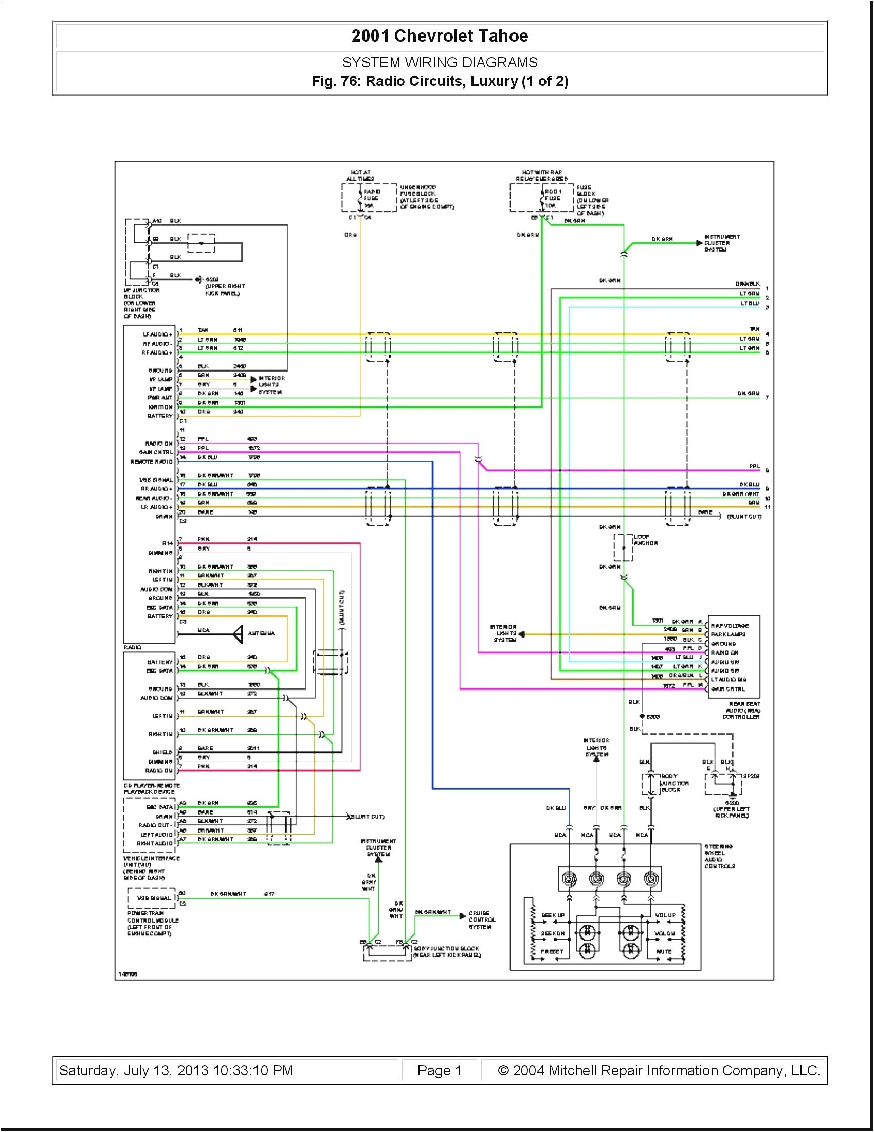 Chevy wiring color codes