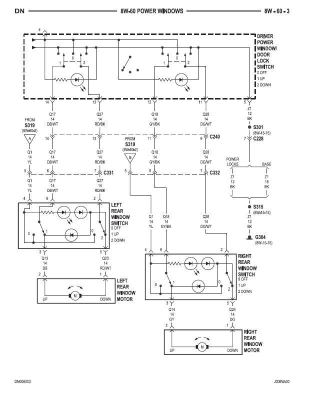 dodge power window wiring diagram wiring diagram load 2005 dodge dakota power window wiring diagram