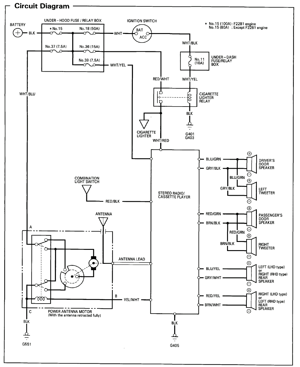94 accord radio wiring diagram cant find the right one honda tech 1994 accord antenna wiring diagram 1994 accord wire diagram