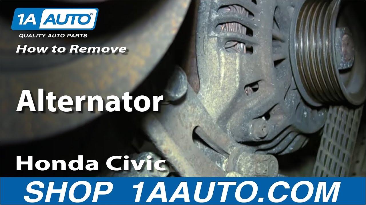 how to replace alternator 01 05 honda civic