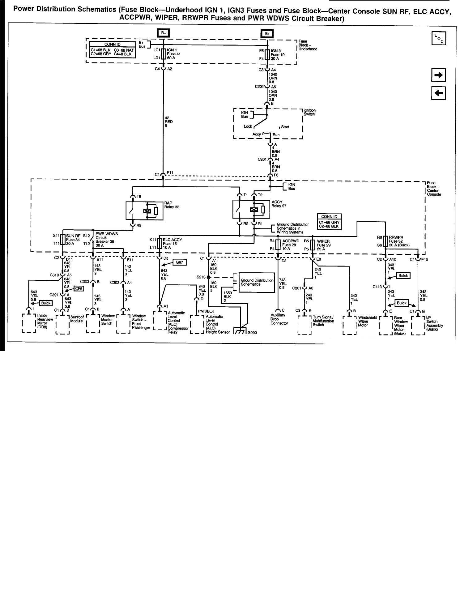 i need a ignition switch wiering diagram for a 2002 buick rendezvous02 buick rendezvous wiring diagram
